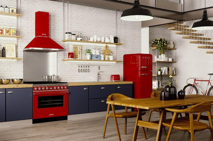 Hele fijne fornuizen van SMEG - Wonen Voor Mannen - WVM - SMEG, fornuis, gasfornuis, design fornuis, SMEG portofino, keuken, interieur, design keuken, inrichting