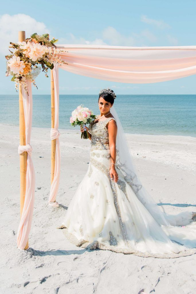 Bride At Captiva Beach In 2020 Bride Beautiful Beach Wedding Florida Beach Wedding