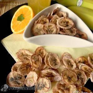Banán chips házilag recept fotóval