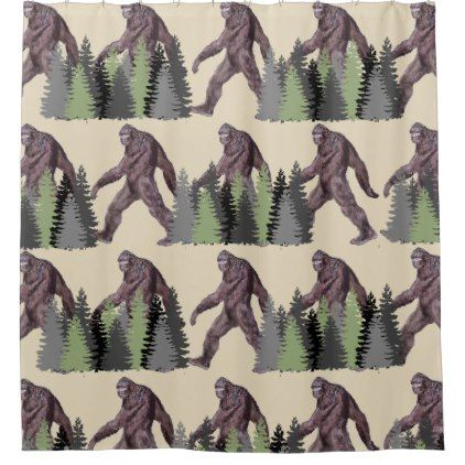 #It's Big Foot Country Shower Curtain - #country gifts style diy gift ideas