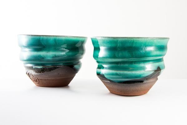 Coppia di Tazze Ninshu - Emerald