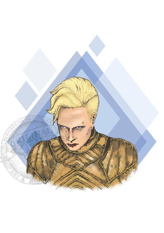 Brienne of Tarth, Game of Thrones fanart #Brienne #brienneoftarth #of #Tarth #gameofthrones #fanart #illustration #digital #art #etsy #shop #download #print