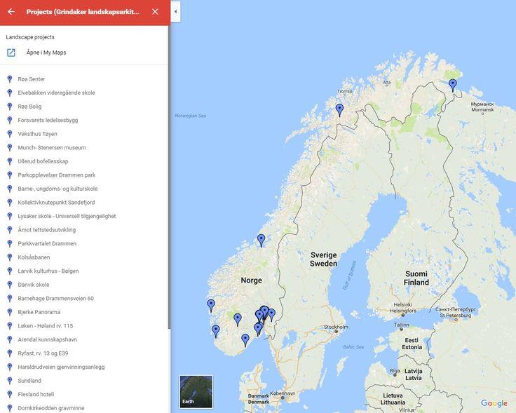 Landscape projects completed in Grindaker landskapsarkitekter AS