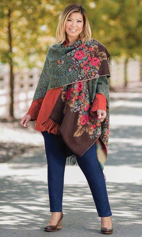 French Cape Mib Plus Size Fashion For Women Winter Fashion