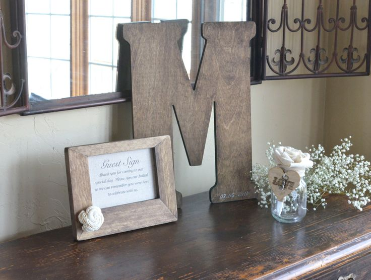 Vintage Letter Guest Book Alternative by Burlap and Linen Co. by BurlapandLinenCo on Etsy https://www.etsy.com/listing/175336112/vintage-letter-guest-book-alternative-by