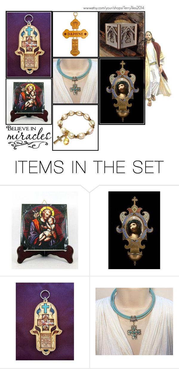 Religious Art on Etsy by TerryTiles2014 - Volume 187 by terrytiles2014 on Polyvore featuring arte, etsy, art, catholic and religious