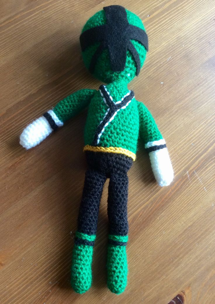 Free Power Ranger Samurai crochet pattern! The 1st post from my blog Tales From The Chicken House - chickenhouse tales.wordpress.com
