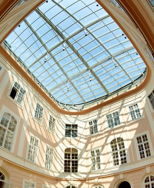 Project: Albertina Museum, Vienna (A) | Architect: Steyner & Mascher | Application: fire resistant glass roof | Product: Pyroswiss