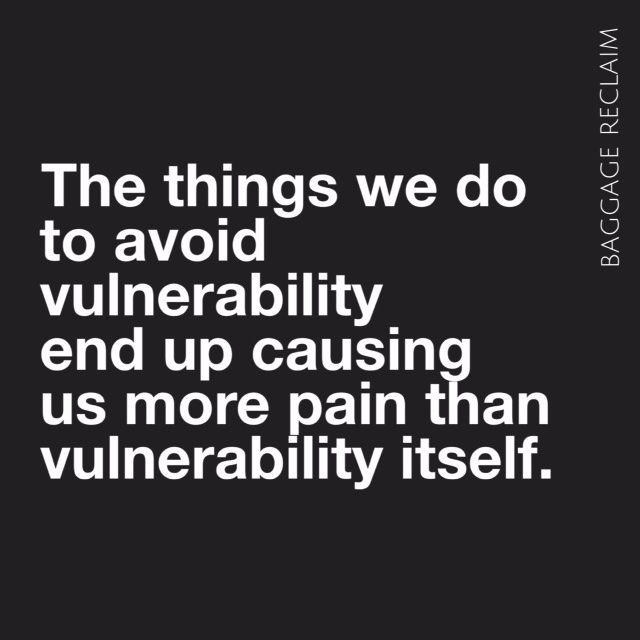 Sometimes we prefer radio silence over vulnerability. Baggage Reclaim