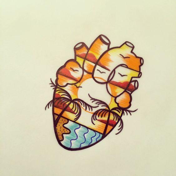 alte Schule Strand Tattoo – Cerca con Google …   – Tattoo