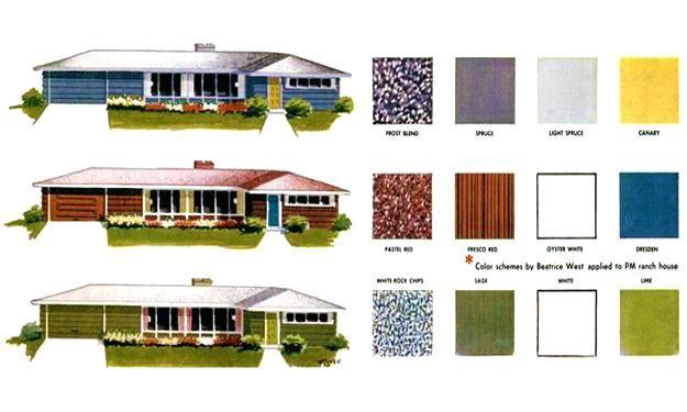 Exterior Paint Colors Modern Mid Century Exterior Paint Color