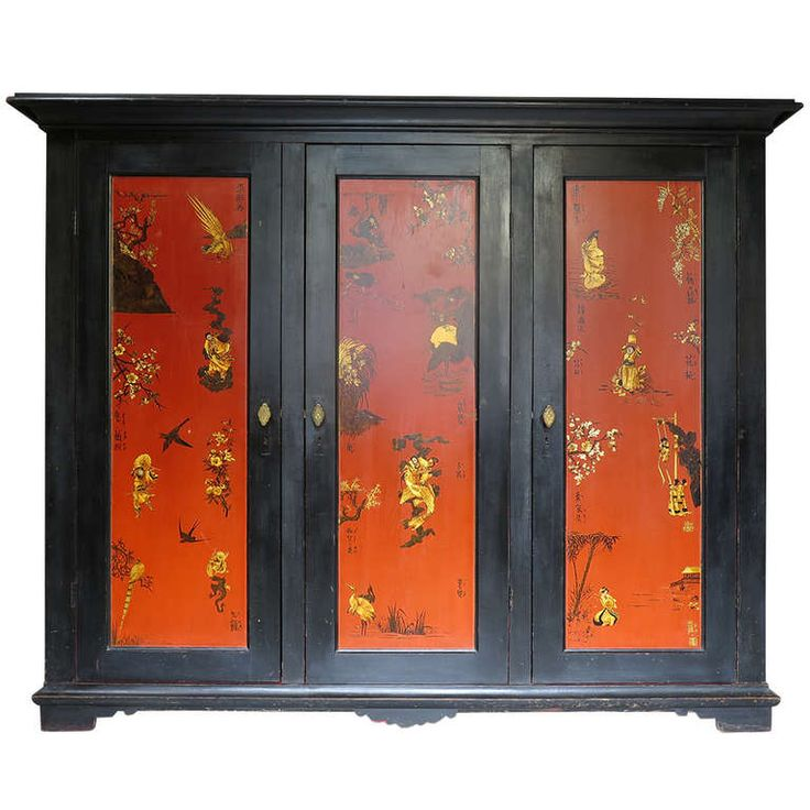 Asian Style Bedroom Set: Armoire, Bed and Mirror, France, 1920s | From a unique collection of antique and modern bedroom sets at http://www.1stdibs.com/furniture/more-furniture-collectibles/bedroom-sets/