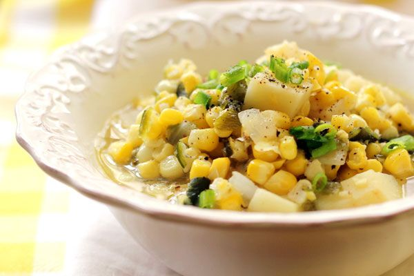 ... this vegan corn chowder. Use fresh corn. Cobs are used for the broth