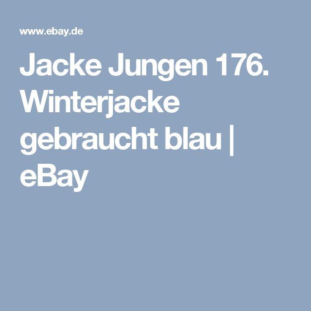 Jacke Jungen 176. Winterjacke gebraucht blau | eBay