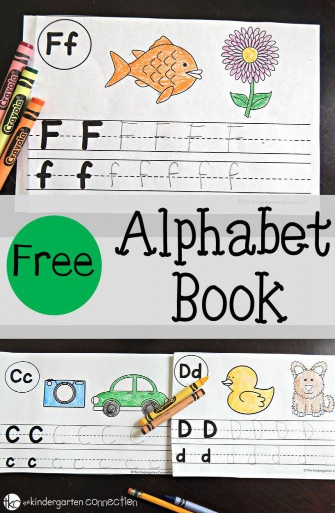 FREE Alphabet Book. Practice letter recognition, letter writing, and beginning sounds!