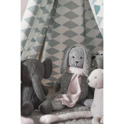 Peluche géante lapin Stonewashed gris (62 cm)  par Jollein