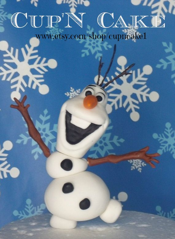 Frozen Olaf the snowman with sunglasses fondant cake ...