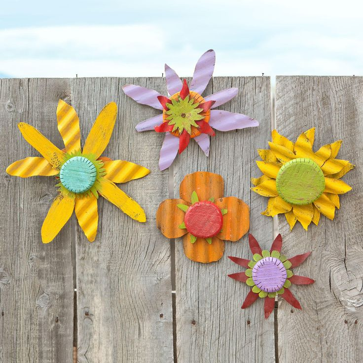 Patio Wall Flowers, set of 5