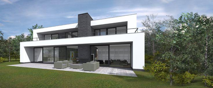 Plattegrond moderne bungalow google zoeken nieuwe idee n voor huis pinterest bungalow - Deco modern huis ...