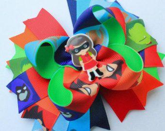 Super Hero Hair Bow, Hero Hair Bow, Girly Hero hair bow, Super Girl hair bow Super Hero stacked hair bow Hero hair bow Super hero OTT bow