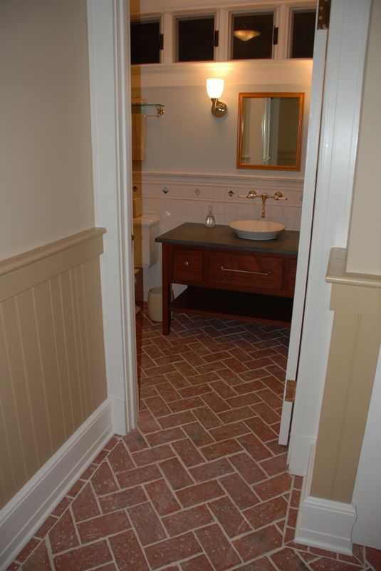 Bathrooms Inglenook Brick Tiles Thin Brick Flooring