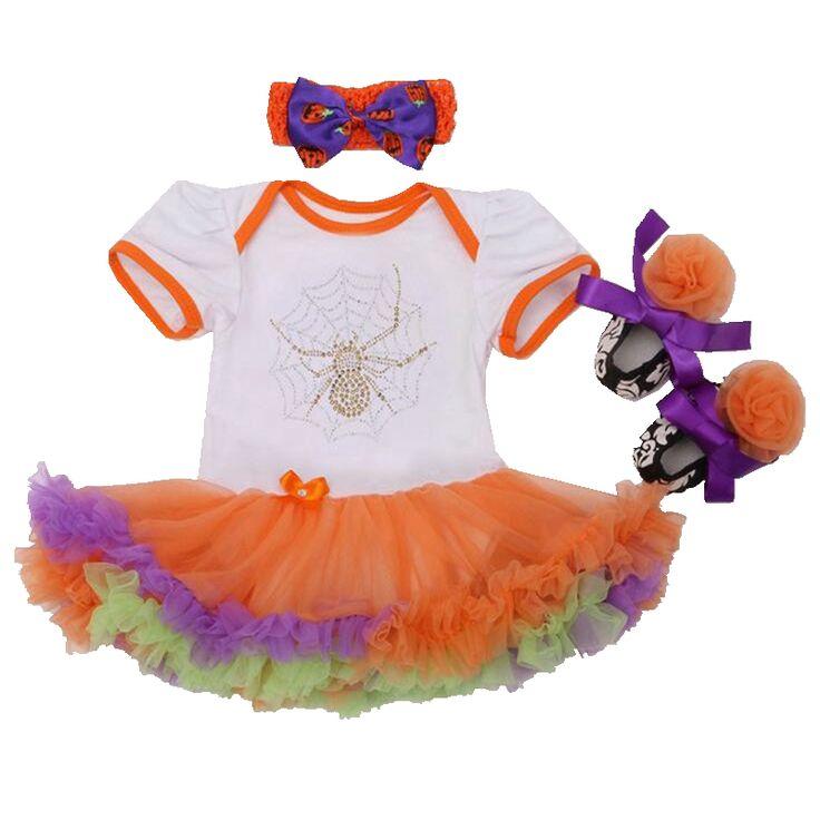 Прохладный паук мода дети маскарадные костюмы для девочек кружева комбинезон пачка платье детская кровать в обуви повязка на голову малышей девушка одежда комплект