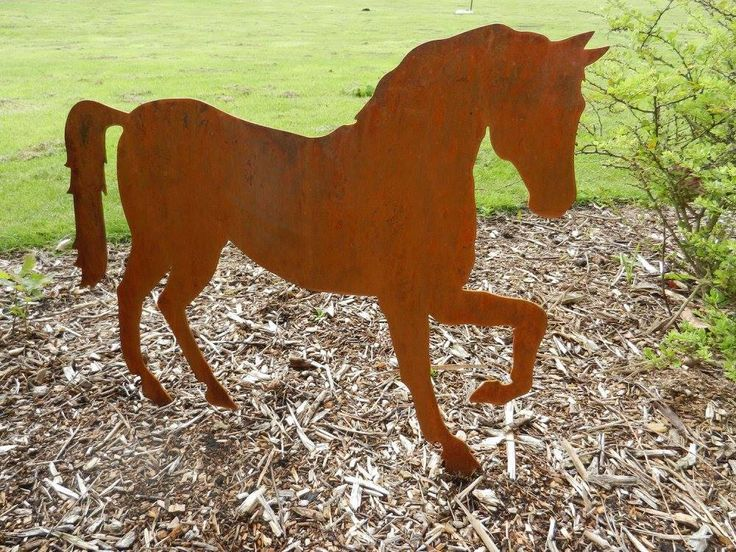 Nice Rusty Horse / Horse Garden Decor / Horse Gift / Horse Ornament / Metal  Garden Ornament