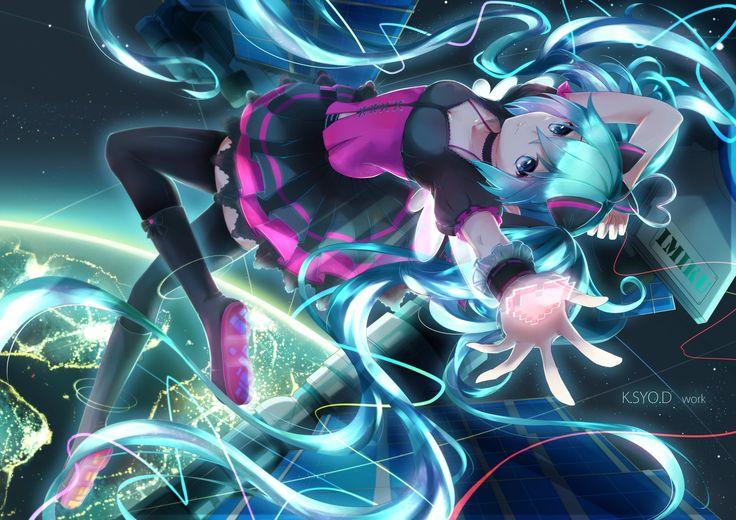 Anime Vocaloid  Hatsune Miku Wallpaper