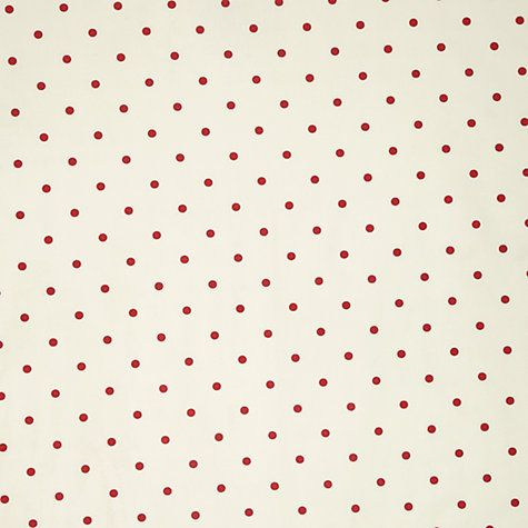 Buy John Lewis Reverse Dots PVC Tablecloth Fabric, Red Online at johnlewis.com