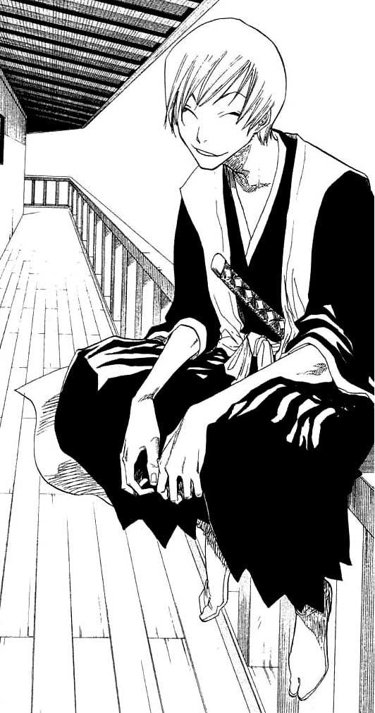Gin Ichimaru... I love how in the books the drawing gets waaaay better! hahaha