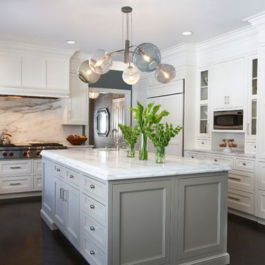 Westchester, NY Center Hall Colonial - transitional - Kitchen - New York - Evelyn Benatar, New York Interior Design