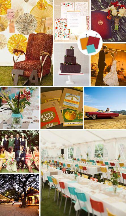 Rust + Copper + Aqua | Vintage Wedding Color Palettes We Love | https://www.theknot.com/content/vintage-wedding-color-palettes-we-love