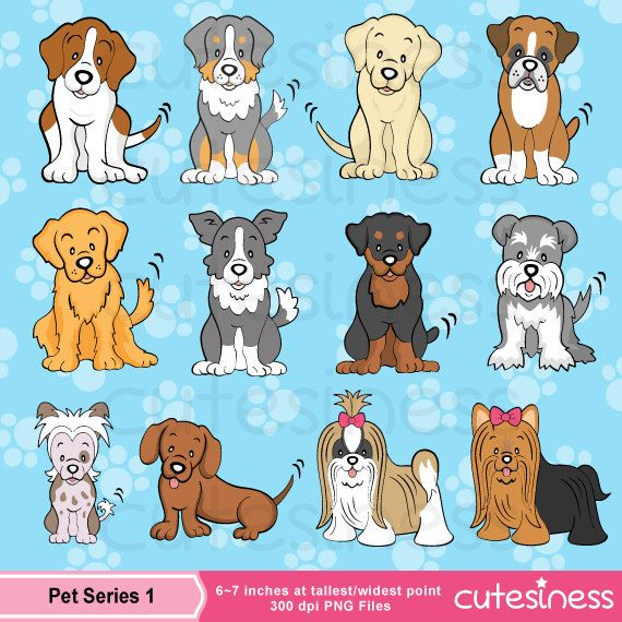 Dog Digital Clipart Dog Clipart Puppy Clipart Puppy por Cutesiness
