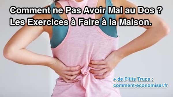 """Inspirés du yoga, ces exercices simples vont détendre votre dos et gainer votre ceinture abdominale pour dire """"bye bye"""" aux problèmes de dos.  Découvrez l'astuce ici : http://www.comment-economiser.fr/ne-pas-avoir-mal-au-dos.html?utm_content=bufferaecd3&utm_medium=social&utm_source=pinterest.com&utm_campaign=buffer"""