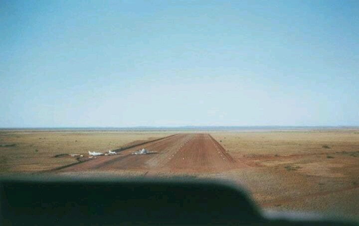 In the days before Karratha had an airport. Western Australia 1960s