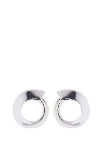 Karen Millen, Axial Stud Earrings Silver Colour