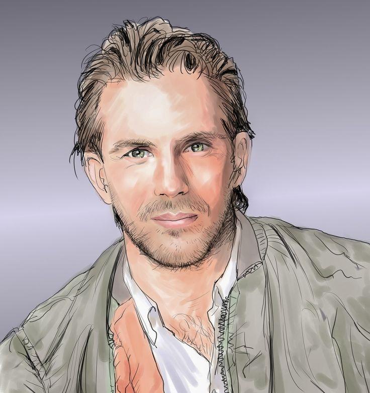 ケビン・コスナーさん #似顔絵 #イラスト #イラストレーション #俳優 #ケビンコスナー #caricature #illustration #portrait #artwork #drawing #actor #KevinCostner
