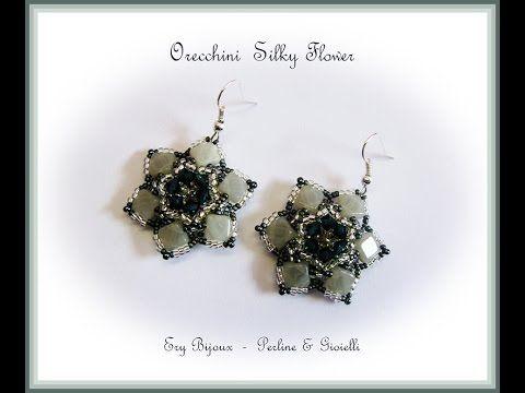Tutorial   Orecchini Silky Flower [Collaborazione con Perline & Gioielli] - YouTube