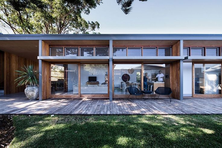 New wing of the house with living area and kitchen Small 70s Home in Australia, Gets Creative, Eco Friendly Extension