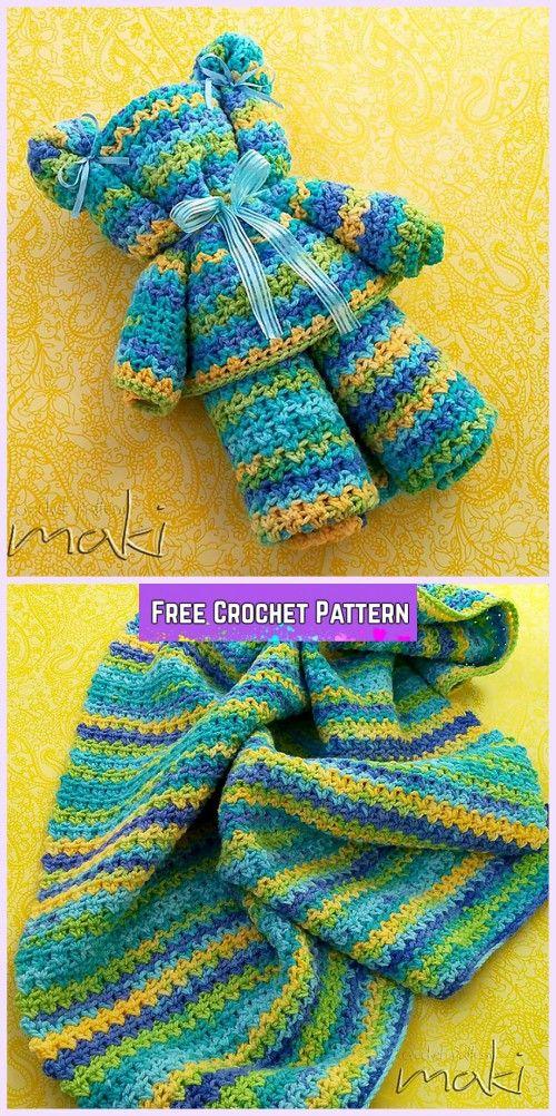 Crochet Ripple Baby Blanket Bear Free Pattern Baby Crochet