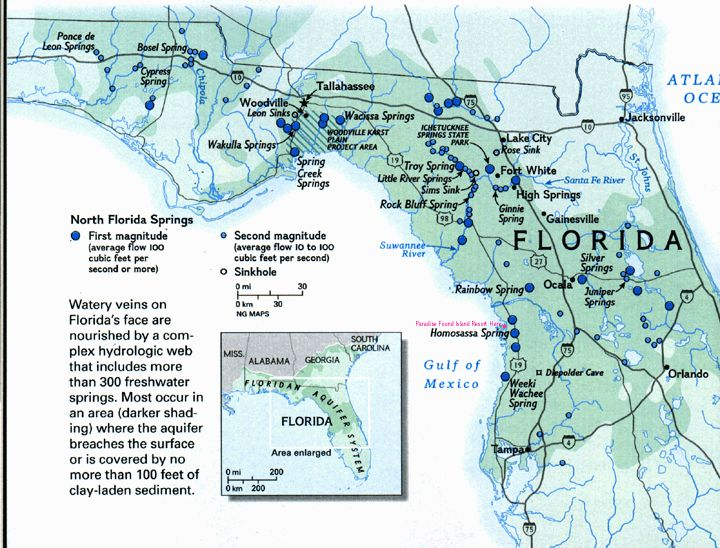 Florida Springs Map Springs Florida Map ~ CINEMERGENTE