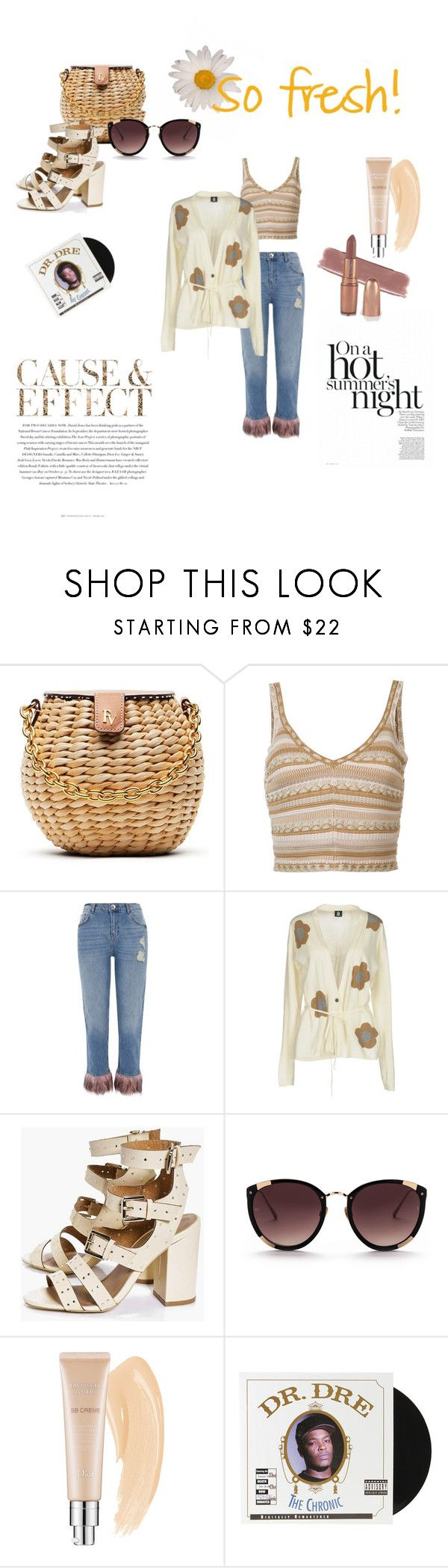 """""""🍋Fresh in hot☀️"""" by pinarhadutoglu ❤ liked on Polyvore featuring Frances Valentine, Alice + Olivia, Envi:, River Island, Marina Yachting, Boohoo, Christian Dior and Urban Outfitters"""