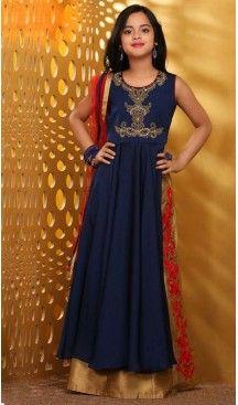 Nevvy Blue Color Taffera Silk Fabric Readymade Kids Girl Lehenga Choli   FH00031035 ---> Follow us @heenastyle  <----  ---  #kidsgowns #kidswear #gownstyle #allthingsbridal #bridalsuits #ethnicfashion #celebrity #bollywooddesigns #bollywoodsuits #partywear #collection #wedding #womenswear #kuwait #luxerydress #princess #kidsdesigner #robedeprincesse #anniversaireenfant #vestitibambini #Turkey #istanbul #couturekidsclothes #kidstrends #heenastyle