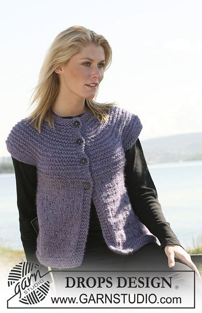 Ravelry: 108-40 jacket with short raglan sleeve pattern by DROPS design