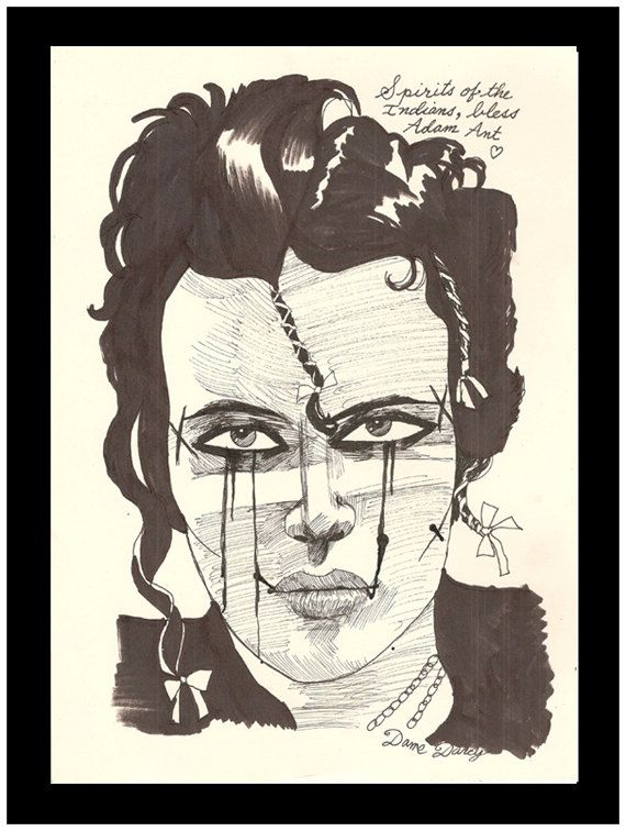 Dame Darcy does Adam Ant (from my private collection.)