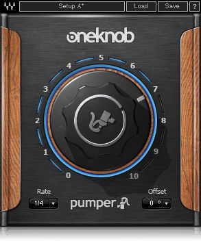 Designed for achieving an instant ducking effect, OneKnob Pumper simulates sidechain compression, saving you the need to route the kick track to the sidechain input of a compressor.