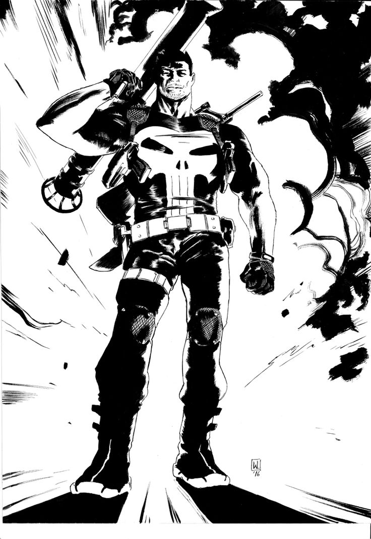 watch out: wertherdelledera: Punisher commission pencils...