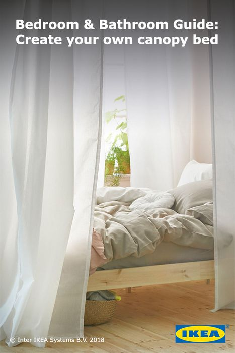 Textiles hide it and divide it to create the perfect room. Learn how to use curtains to create your own custom canopy bed.