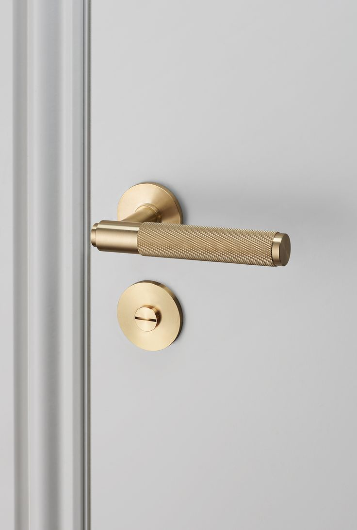 DOOR LEVER HANDLE / BRASS and THUMBTURN LOCK / BRASS by Buster + Punch.