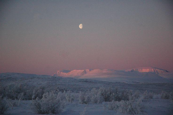 Snowy mountains Finnmark, Norway Photo: Elisabeth Johnsen